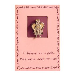 LDS Sincere Thoughts Greeting Card & Two Tone Pin   Angel Two Tone Pin   I Believe in AngelsYou Were Sent to Me   LDS Greeting Cards, Friendship