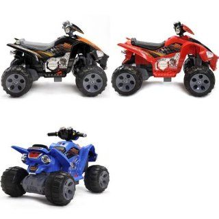 Kids QUAD ATV 4 Wheeler Ride On Power 2 Motors 12V Traction Wheels Black,RED OR BLUE (COLOR SENT AT RANDOM)  PLEASE EMAIL US FOR SPECIAL REQUEST PRIOR TO PURCAHSE (1 UNIT PER PURCHASE  YOU WILL RECIEVE ONE ATV  COLOR RANDOM) Toys & Games