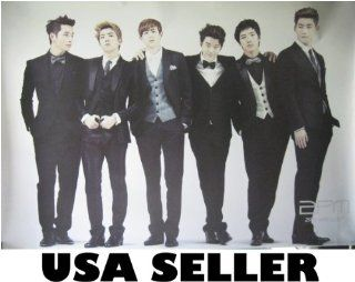 2PM black suits horiz POSTER 34 x 23.5 Korean boy band 2 PM (sent FROM USA in PVC pipe)  Prints
