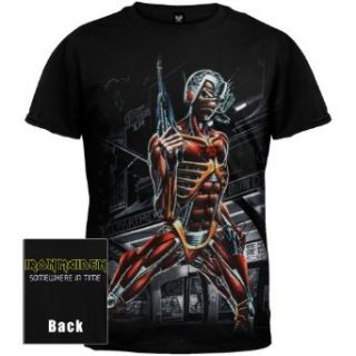 Iron Maiden   Mens Jumbo Somewhere In Time T shirt Small Black Clothing