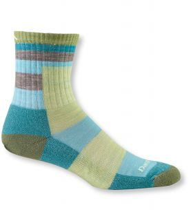Womens Darn Tough Cushion Socks, Micro Crew Light Stripe