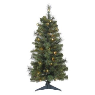 Vickerman Classic Mixed Pine Full Pre lit Christmas Tree with Plastic Stand
