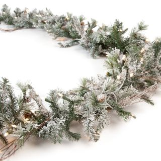 9 ft. Frosted Whistler Fir Pre Lit Garland
