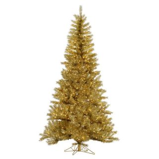 Vickerman Gold / Silver Tinsel Pre lit Christmas Tree   Christmas Trees
