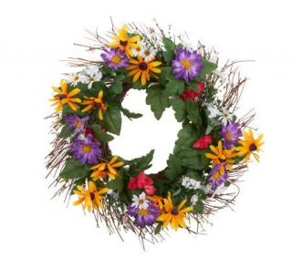 Bethlehem Lights 22 Unlit Wildflower Wreath   H198946 —