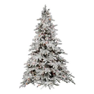 Vickerman Co. 6.5 Flocked Utica Fir Artificial Christmas Tree 600 LED