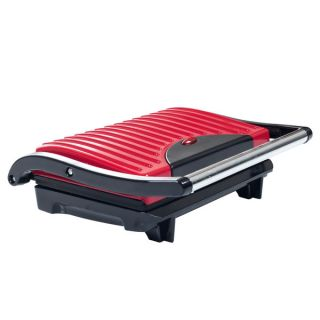 Chef Buddy Electric Red Non stick Grill and Panini Press   16339007