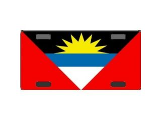 Antigua & Barbuda Flag Aluminum License Plate   SB LP3961