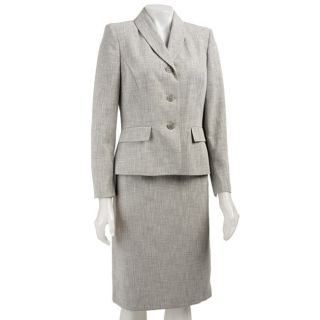 Le Suit Womens Two piece Three button Skirt Suit