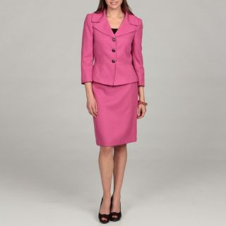 Tahari Womens Fuchsia Three button Skirt Suit  ™ Shopping