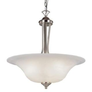 Bel Air Lighting Stewart 3 Light Brushed Nickel CFL Ceiling Pendant PL 9284 BN