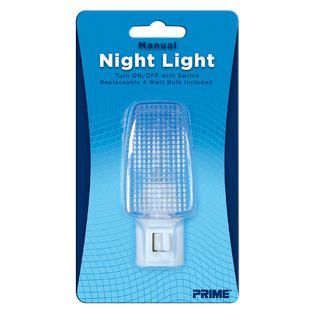 Prime Wire & Cable 1 Pack Incandescent Manual Night Light   Fitness