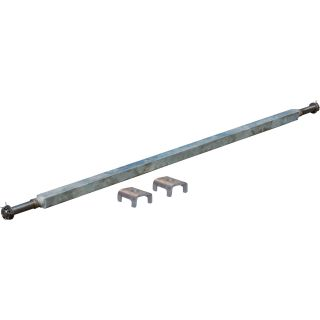 Ultra-Tow 2000-Lb. Capacity Spring Trailer Axle with Adjustable Spring Mounts — 59 1/2in. Hubface, 43in.–49in. Spring Center, 64 1/2in.L, Straight  Galvanized Trailer Springs
