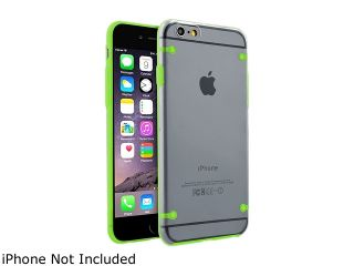 Insten Clear/Green TPU Rubber Bumper Snap in Case Cover for Apple iPhone 6 Plus (5.5 inch) 1963884