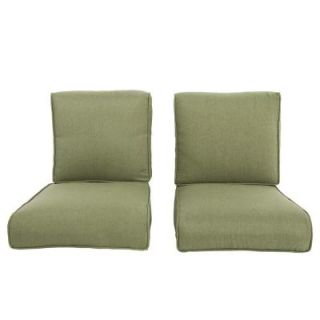 Hampton Bay Pembrey Replacement Outdoor Chat Chair Cushion (2 Pack) HD14223