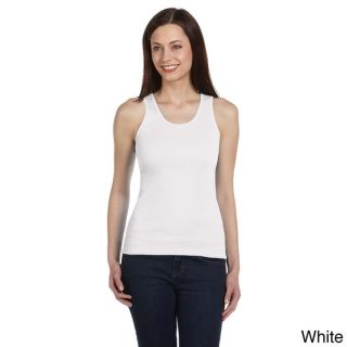 Bella Womens Rib knit Ringspun Cotton Tank   16114112