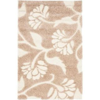 Safavieh Florida Shag Beige/Cream 3 ft. 3 in. x 5 ft. 3 in. Area Rug SG459 1311 3