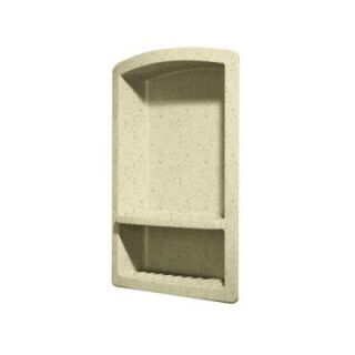 Swanstone Recessed Wall Mount Solid Surface Soap Dish and Accessory Shelf in Caraway Seed DISCONTINUED RS 2215 169