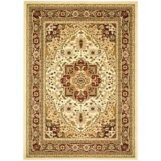 Safavieh Lyndhurst Collection Ivory/ Red Rug (9 x 12)