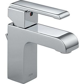 Delta Arzo Series Single Hole Bathroom Faucet with Single Handle; Chrome