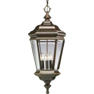 Progress Lighting Crawford Collection 4 Light Outdoor Hanging Oil Rubbed Bronze Lantern P5574 108