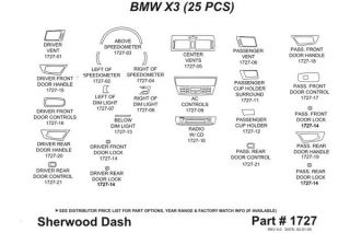 2010 BMW X3 Wood Dash Kits   Sherwood Innovations 1727 R   Sherwood Innovations Dash Kits