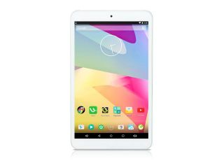 iRULU 8 Inch Google Android 5.1 Lollipop Tablet PC, Quad Core, IPS Multi touch Screen, 1280*800 Resolution, 16 GB Nand Flash   White Front with Silver Metal Cover