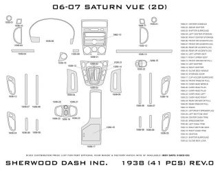 2006, 2007 Saturn Vue Wood Dash Kits   Sherwood Innovations 1938 CF   Sherwood Innovations Dash Kits