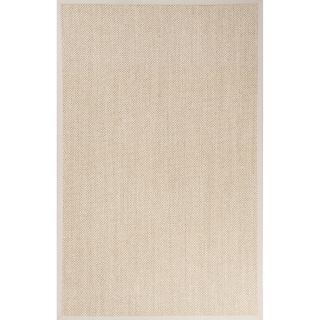 Naturals Solid Pattern Natural/Ivory Sisal Area Rug (9 x 12