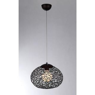 Aaliyah 1 Light Antique Bronze Indoor Glass Pendant Lamp 04461
