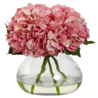 Nearly Natural Large Blooming Hydrangea with Vase 1357 PK