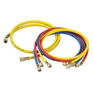 Yellow Jacket Manifold Hose Set, Red, Yellow, Blue, Black, 21990