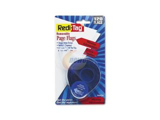 "Redi Tag 81364 Arrow Message Page Flags in Dispenser, ""Missing Information"", Red,120 Flags/Pack"