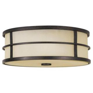 Feiss Fusion 3 Light Grecian Bronze Indoor Flushmount FM257GBZ