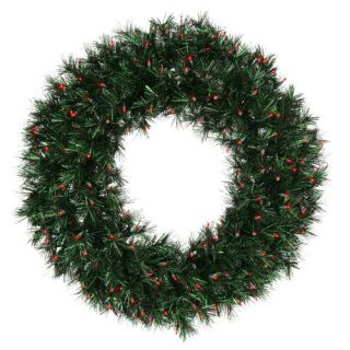 Sparkling Tinsel Artificial Christmas Wreath by Tori Home