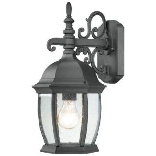 Thomas Lighting Covington 1 Light Black Outdoor Wall Mount Lantern SL92287