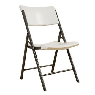Lifetime Commerical Grade Contemporary Folding Chair, Almond   4 pack