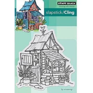 "Penny Black Cling Rubber Stamp, 4"" x 6"" Sheet, Potters Shed"
