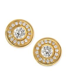 Roberto Coin 18 karat Yellow Gold Diamond Stud Earrings