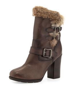 Frye Penny Lux Fur Lined Boot, Dark Gray
