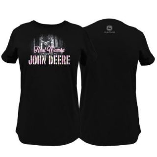John Deere Ladies XL Real Women Love T Shirt in Black 23005298BK06