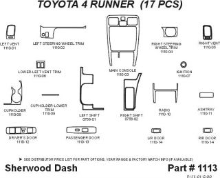 1999 2002 Toyota 4Runner Wood Dash Kits   Sherwood Innovations 1113 N50   Sherwood Innovations Dash Kits
