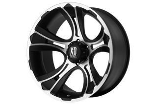 "XD Series XD80122188544N   8 x 180mm Bolt Pattern Two Tone 22"" x 11"" XD Series 801 Crank Matte Black Machined Wheels   Alloy Wheels & Rims"