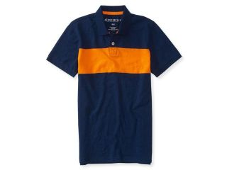 Aeropostale Mens Colorblock Stripe Rugby Polo Shirt 053 L
