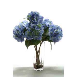 Nearly Natural Large Silk Hydrangeas with Vase