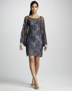 Nicole Miller Lace Overlay Cocktail Dress