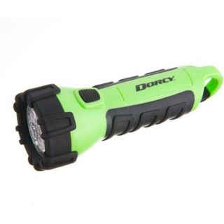 Dorcy Floating Waterproof LED Flashlight with Carabineer Clip, 32 Lumens, Neon Green