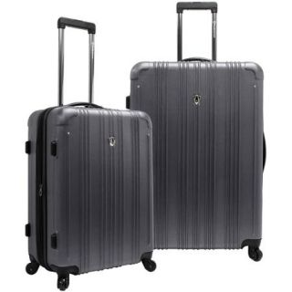 Traveler's Choice New Luxembourg Expandable Hard Sided 2 Piece Luggage Set