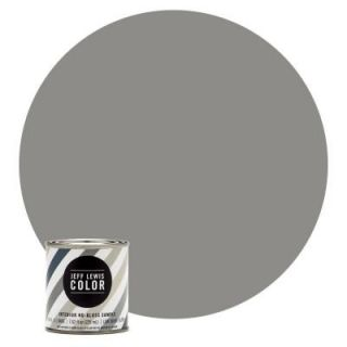 Jeff Lewis Color 8 oz. #JLC415 Gray Geese No Gloss Ultra Low VOC Interior Paint Sample 108415