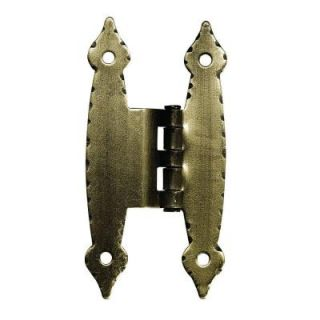 "Liberty 3/8 in. Antique Brass Hammercraft Offset ""H"" Hinge (1 Pair) H09060C AB C5"